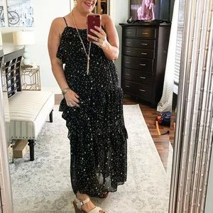 Tiered maxi dress with stars
